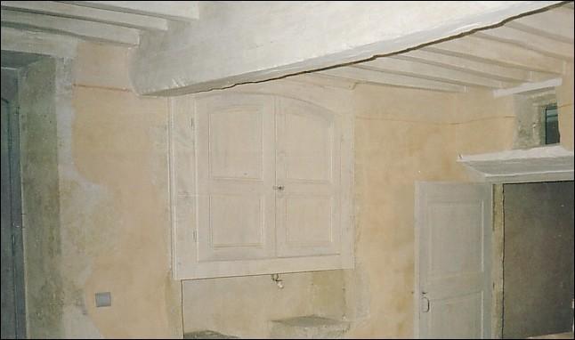Porte d 39 une chambre peinture l 39 huile de lin et pigment for Huile de lin cuisine